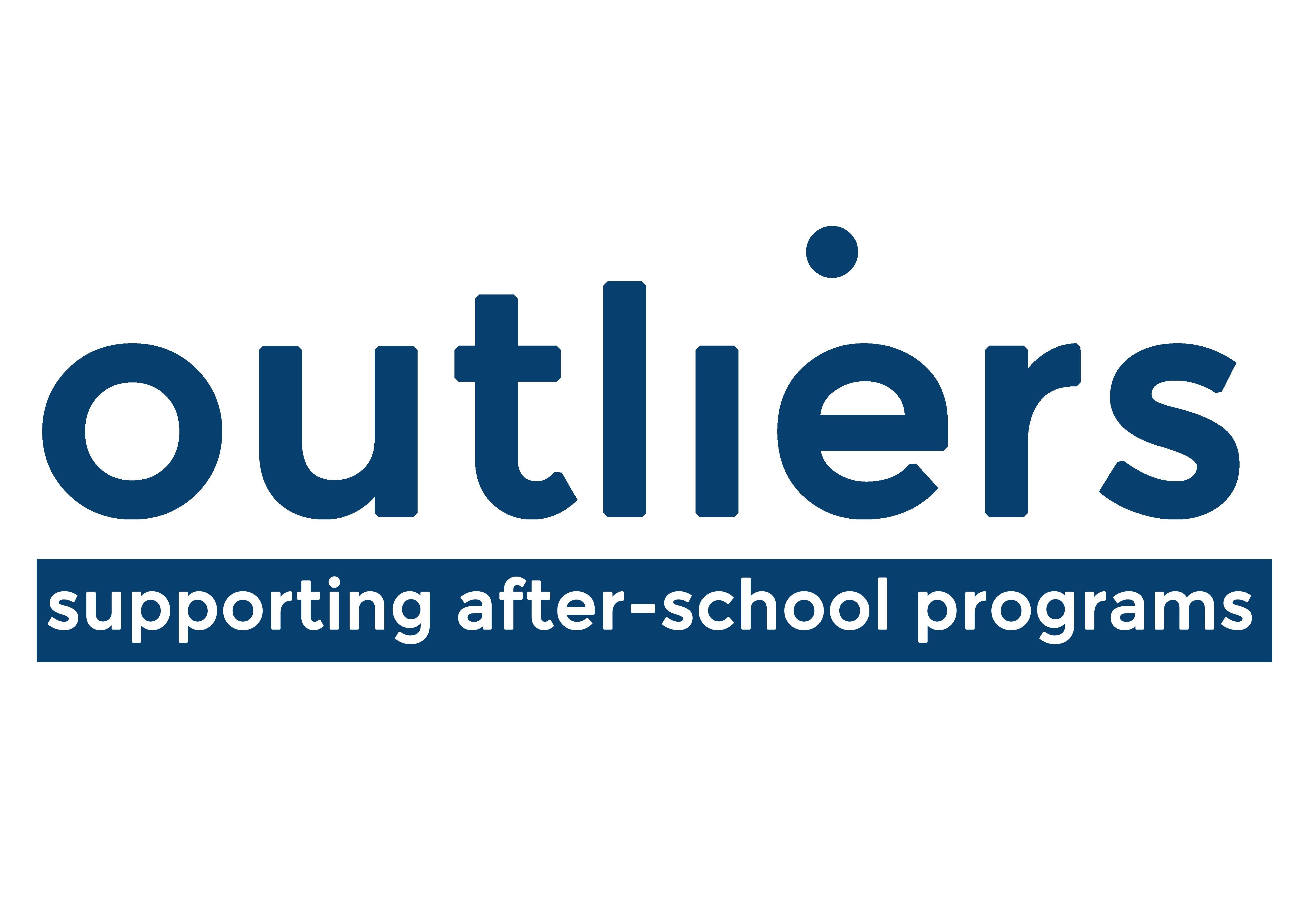 Outliers logo March 2020 - blue on white
